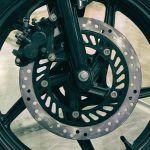 Bicicleta con freno de disco delantero