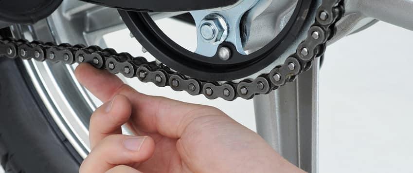 Prueba de cadena de bicicleta
